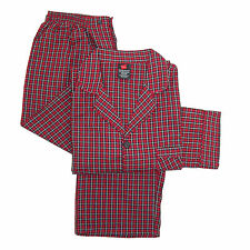 New Hanes Mens Broadcloth Long Sleeve Pajama Set