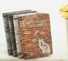 Hard Cover Animal on Brick Wall Paper Notebook Journal Diary Memo 14.5x10.5cm