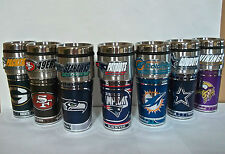 NFL Stainless Steel Coffee Mug/Travel Tumbler  Insulated ~16 OZ~ Metallic Logo