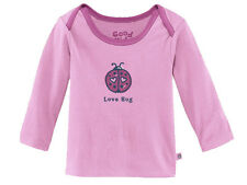 Life Is Good Infant's Baby Ringer Love Bug Peony Pink