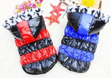 Winter Cotton Hooded Coat Costume Sweater Snowsuit  Small Boy Girl Dog Clothes