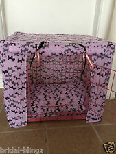 DOG / PUPPY CRATE / CAGE COVER / MADE TO ORDER / PINK / BLUE / RED / XMAS