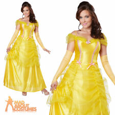 Adult Classic Belle Beauty Costume Ladies Fairytale Fancy Dress Outfit New 6-16