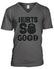 Hurts So Good Kettlebell Weight Lifting Exercise Fitness Mens V-neck T-shirt