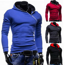 Stylish Mens Zip Hoodie Jacket Coat Long Sleeve Hooded Sport Sweater Shirt XS~L