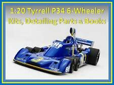 1:20 Tyrrell P34 kits, decals, detailing sets and parts to suit Fujimi Tamiya