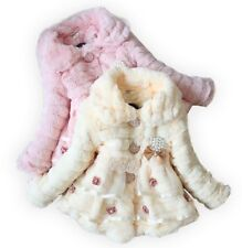 Hot New Kids Toddler Girls Winter Party Clothes Coats Snowsuit Overcoat Sz12M-4Y