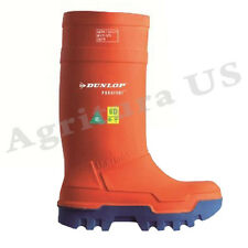 Dunlop Purofort Thermo+ Full Safety Orange Shoes 6-15, E662343