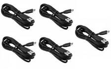 Lot of 5 New Original OEM HTC Premium Thick Blk USB Sync Data Cable Charger Cord