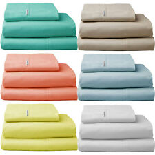 225TC Thread Count 100% Cotton Sheet Set Single King Single Double Queen King