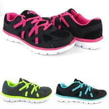 Women's Athletic Sneakers Lace Up Running Walking Gym Tennis Shoes Stripes Light