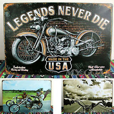 Harley Motorcycle Vintage Metal Tin Sign Poster Pub Bar Garage Wall Decor Plaque