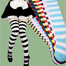 New Womens Fashion Sexy Christmas Stockings Striped Thigh High Tights Hosiery