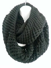 Men Women Winter Warm Infinity Circle Cable Knit Cowl Neck Long Scarf Shawl Wrap