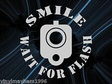 Smile Wait for Flash Barrel front sight vinyl sticker decal 1776 2A Rights AR15