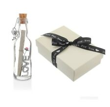 1st Paper to 10th Wedding Anniversary Gift   PERSONALISED MESSAGE IN A BOTTLE
