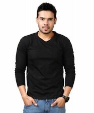 Vneck Black Full Sleeve Tshirt