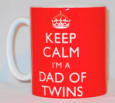 Keep Calm I'm A Dad Of Twins Mug Can Be Personalised Great Pregnancy Scan Gift
