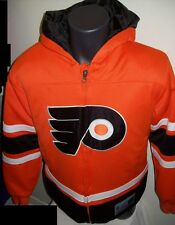 "YOUTH Philadelphia FLYERS ""Crosscheck""  zip up Hoody YOUTH MED, LG, ORANGE"