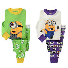 2pcs Minions Sleepwear Pant Baby Pajamas pyjamas Boy girl Kids Despicable Me 2-7