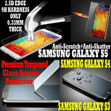 Genuine Premium Real Tempered Glass Screen Protector For Samsung Galaxy S5 S4 S3