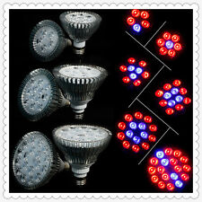 15W/21W/27W/36W/45W/54W E27 LED Plant Grow Light Red Blue Hydroponic 2y Warranty