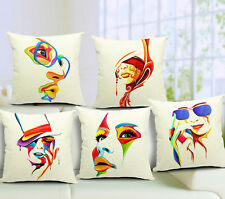 New Cover Cotton Linen Square Cushion Home Decor Print Arts Facebook Pillow Case