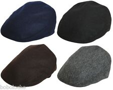 Black Brown Navy Grey Tweed Classic Flat Cap Mens Wool Hat XL L M S XS Ladies
