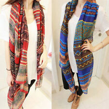 Bohemian Lady Voile Soft Silk Scarf Large Shawl Scarves Stole Wrap Stylish Acc