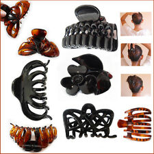 Large Claw Clips Ladies Hair Folding Clips Black Girls Style Plastic Hair Clamps