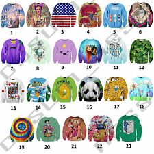 Graphic 3D Print Casual Jumper Sweater Sweat Hip Hop Cartoon Street Fashion Top
