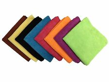 """24 Microfiber 16""""x16"""" Cleaning Cloths Detailing Polishing Towels Rags 300GSM"""