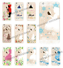 Ultra Thin Disney Princess Transparent TPU Soft Case For iPhone 5/5S/ 6/ 6 Plus