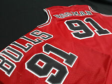 Dennis Rodman Chicago Bulls Red Throwback NBA jersey Hardwood Classic All Sizes