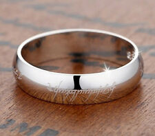 the lord of the ring silver personalized couple rings name engraved custom made