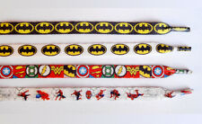 BATMAN JUSTICE LEAGUE SUPERMAN SPIDER MAN Shoelaces Multiple Colors 1 Pair