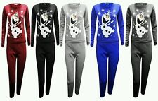 New Ladies Womens Christmas Olaf Frozen Snowman Sweat Tracksuit Jogger Xmas Gift