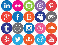 Social Media Icons - Individual (Circular) - Vinyl Decal Sticker