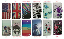 For HTC Nokia Sony Wallet cute cartoon Magnetic floral flip case cover