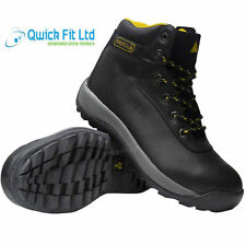 NEW MENS PANOPLY BLACK SAFETY TRAINERS SHOES LADIES BOOTS WORK STEEL TOE CAP