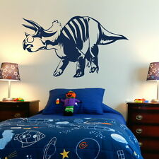 DINOSAUR TRICERATOPS LARGE WALL ART DECAL STICKER giant stencil vinyl mural Di2