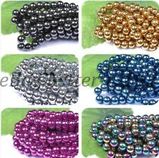 Wholesale! Lots Hematite Gemstones Ball Spacer BEADS 4MM 6MM 8MM 10MM 12MM