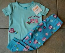 Girls Gymmies,Gymboree, pajamas,sleepwear, NWT,short sleeved OWL,sz.2,3,5 yrs