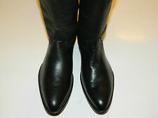 Genuine Deerskin  style Black leather cowboy boots retail $225.00