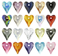 Wholesale Genuine SWAROVSKI 6240 Wild Heart Crystal Pendants * Many Colors