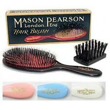 Mason Pearson BN3 Handy Boar Bristle Nylon Tufts Hair Brush, Cleaner, Gift Box