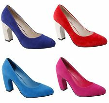 NEW Women's Pointed Toe Pumps w/ Chunky Glitter High Heels in Velvet