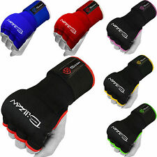Boxing Gel Gloves Hand Wraps Fist Padded Bandages MMA Thai Muay Training kick