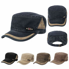 Men Wommen Adjustable Classic Army Plain Vintage Hat Cadet Military Baseball Cap