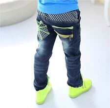 Children Jeans baby & kids boys girls pants child trousers plaid autumn srping
